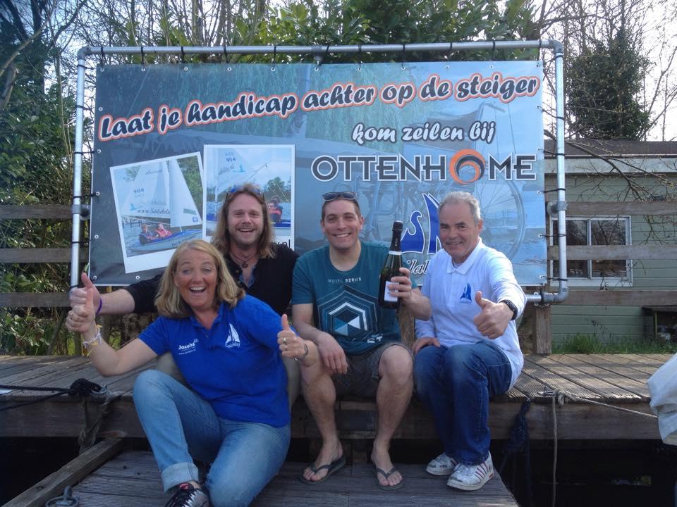 Zeilen met een handicap bij Ottenhome Kortenhoef Loosdrecht
